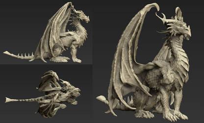 Dragon sculpt by gugu-troll