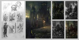 Sketches for Dark Elf by gugu-troll