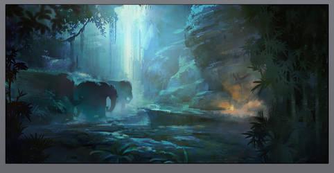 Elephants by NathanFowkesArt