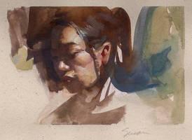 Watercolor Sketchbook Study by NathanFowkesArt