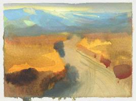 Coalinga Road by NathanFowkesArt