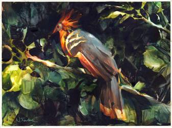Hoatzin in Watercolor! by NathanFowkesArt
