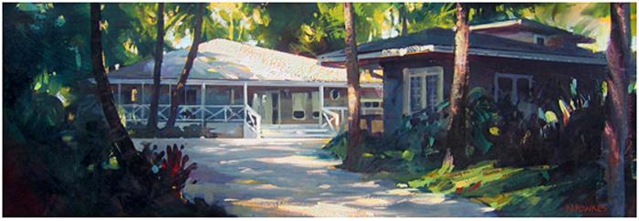 Hawaii House by NathanFowkesArt
