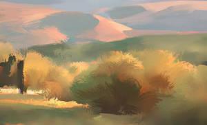 Sunset Hills by NathanFowkesArt