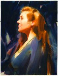 Watercolor portrait! by NathanFowkesArt