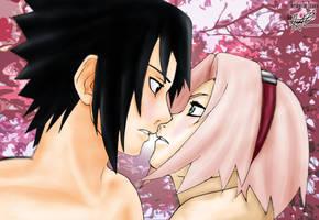 Sasuke and Sakura by nelsonaof