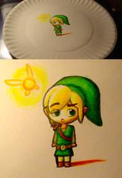 Paper Plate Link by shadowkitsunekirby