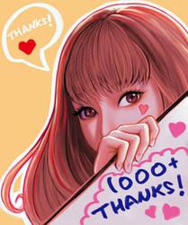 1000+ Thanks! by SquirrelHsieh