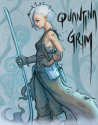 Quantina Grim, the Necromancer by SquirrelHsieh
