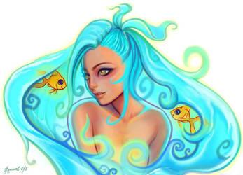 Aqua #destinyblueredraw by SquirrelHsieh