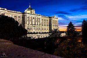 Royal Palace from Madrid at sunset..night by VitoDesArts
