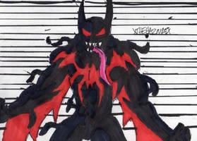 Batman Beyond Symbiote by ChahlesXavier