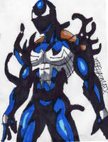 Symbiote Spidey morphing by ChahlesXavier
