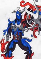 Symbiote Captain America by ChahlesXavier