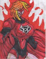 Supergirl Red Lantern Again by ChahlesXavier
