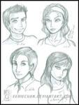 Sophomores:Alex-Lily-Mike-Bri by eERIechan