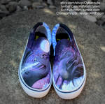 The Depths of an Arctic Galaxy custom dragon shoes by CrimsonVip3r