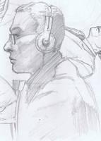 Sketch at Border's by aminamat