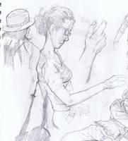 Sketch at Border's No. 2 by aminamat