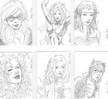 March of Dimes Sketch Cards by aminamat