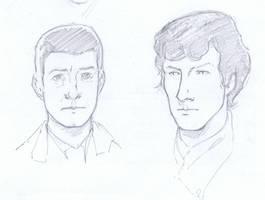Sherlock and Watson Sketch by aminamat