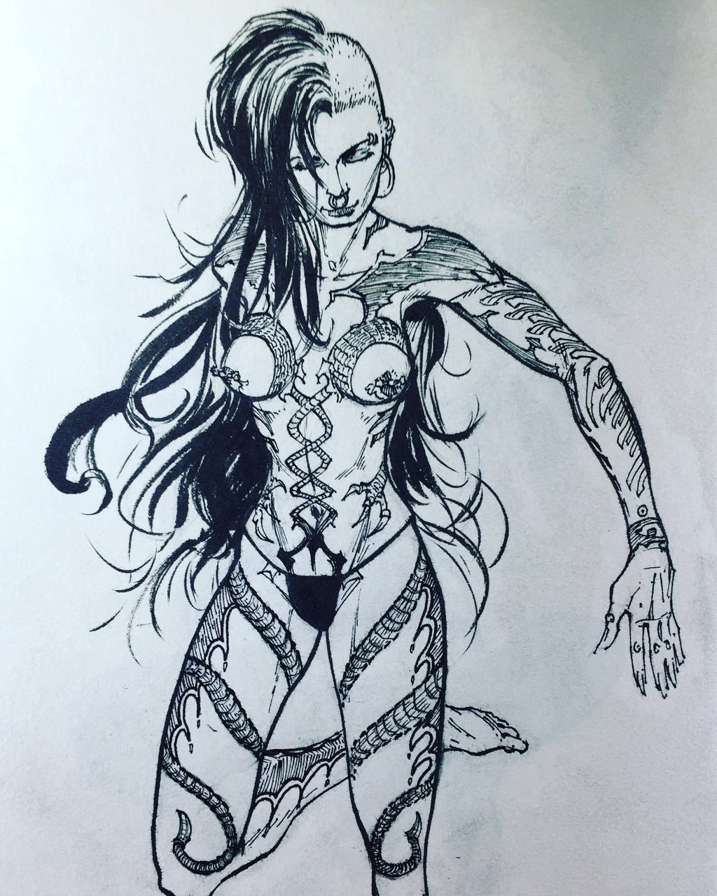 Concept Character Design - Full Body Tattoo by aminamat