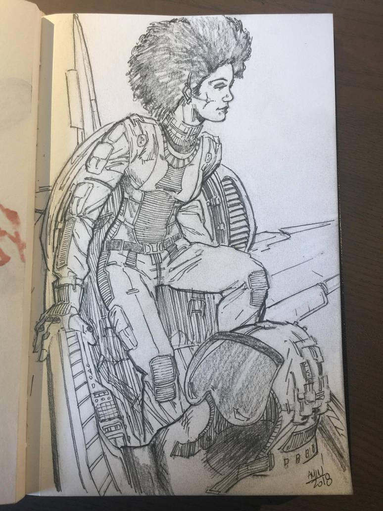 Woman pilot by aminamat