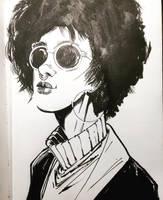 Woman with sunglasses by aminamat