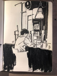 Man at bar by aminamat
