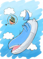 Inktober2018 - Whale by Krustalos