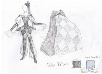Contest Costume Sketch by Starleaf-Creations