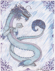 Blue Lung Dragon by Starleaf-Creations