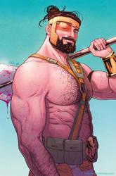 Hercules #2 cover by RDauterman