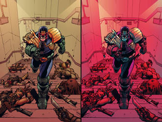 Judge Dredd  Under Siege #2 cover - DOUBLE COLOR! by Malkamok