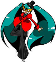 Joker Miku by BlitzKreg-Trixie