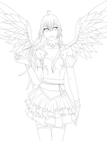 Lineart - Angel by the-searching-one