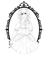 Lineart #21 - Gothic Lolita by the-searching-one