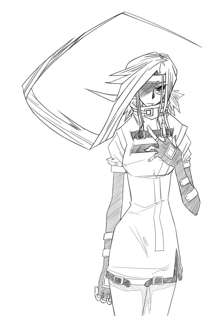Sketch: Millia Rage - Hate by RageVX