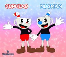 My fanart Cuphead and Mugman by FairyAurora