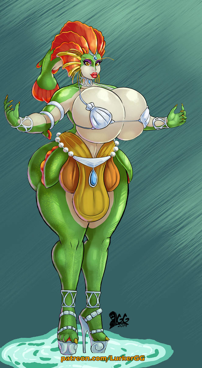 Oren, Queen of the River Zora by Lurkergg