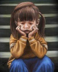 Sad Little Girl by Pixel-Slinger