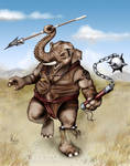 Elephantine Warrior by Pixel-Slinger