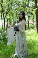 Lady with Barn Owl by FrancescaAmyMaria