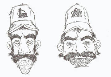 The real Mario and Luigi by DeathBeat