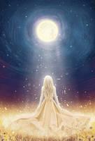 Selene, goddess of the Moon by moisesrodriguez-art