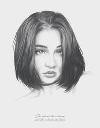 Dream portrait by moisesrodriguez-art