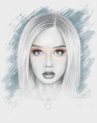 Tension Woman Portrait by moisesrodriguez-art