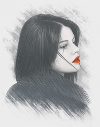 Passion portrait by moisesrodriguez-art