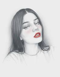 Endless Portrait by moisesrodriguez-art