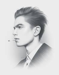Late Portrait by moisesrodriguez-art